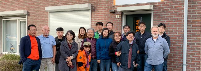 delegatie uit Zuid Korea in het Huis van Morgen.